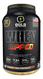 Ripped Whey Gold Nutrition 2lbs Proteina Con Quemador Y Bcaa