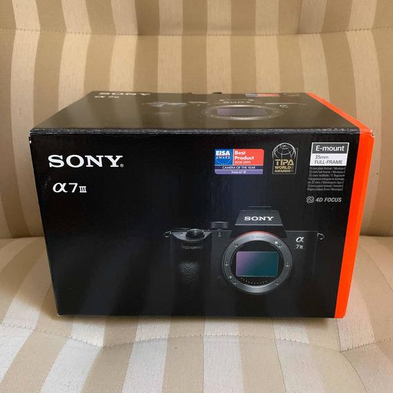 Câmera Sony A7iii Corpo - N / O / V/ A