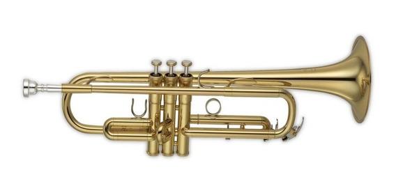 Trompeta Jbtr300 Dorada Con Estuche Rigido Bb Envios