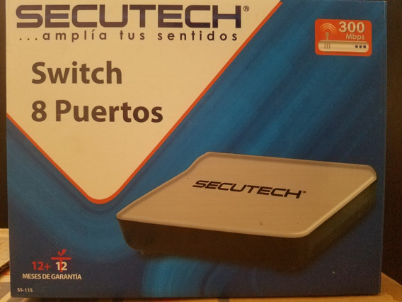 Switch 8 Puertos Secutech 300mbps