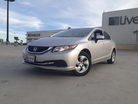 Honda Civic 2015 Automatico Economico Unico Dueño Bluetooth