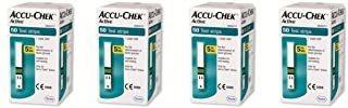 Paquete De 4 - Glucómetro Activo Accu Chek 50 Tiras De Prue