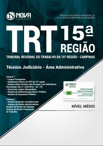 Apostila Trt 15ª Região - Técnico Judiciário Administrativo