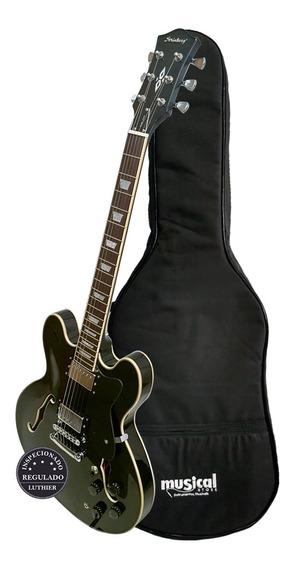 Guitarra Semi Acústica Shs300 Bk Com Capa Luxo Promoção!