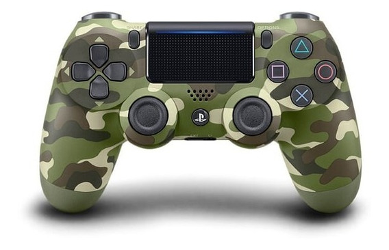 Control Dualshock 4 Green Camouflage Ps4 Playstation