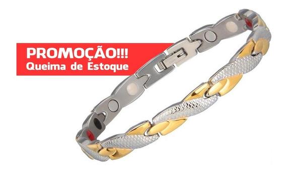 Bracelete Magnética Infravermelho Pulseira Terapia Quântica