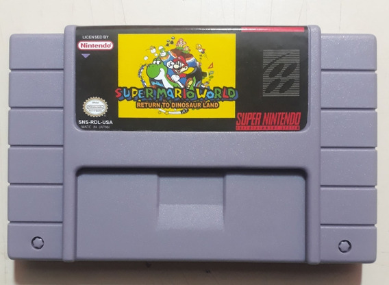 Mario World Return The Dinossaur Land Super Nintendo
