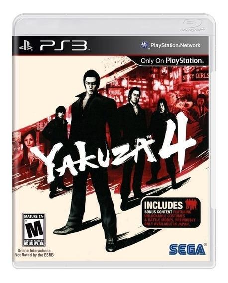 Jogo De Ps3 Yakuza 4 Em Mídia Digital