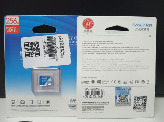 Cartão De Memória Eaget Sdxc 256gb Classe 10 (u3) High Speed