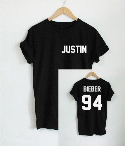 Camiseta Feminina Justin Bieber Blusa Tshirt 100% Algodão