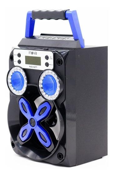 Caixa De Som Bluetooth Amplificada Rádio Fm Mp3 Usb Sd 8w