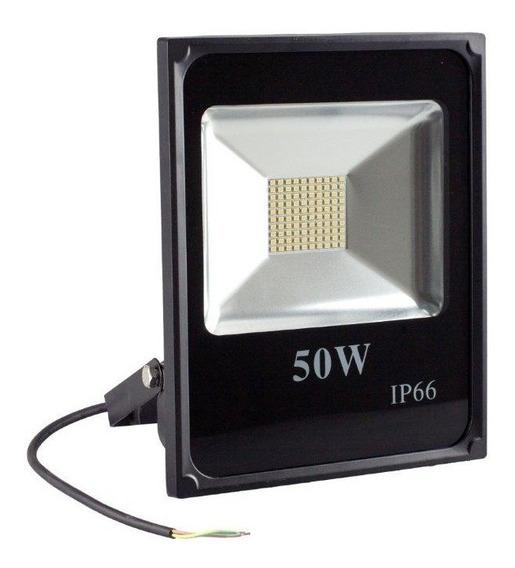 Reflector Led Lampara Faro 50w Exterior Luz Blanca 110/220v