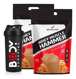 2x Muscle Hammer Whey Isolado + Hidrolisado 3.6kg - Body Action