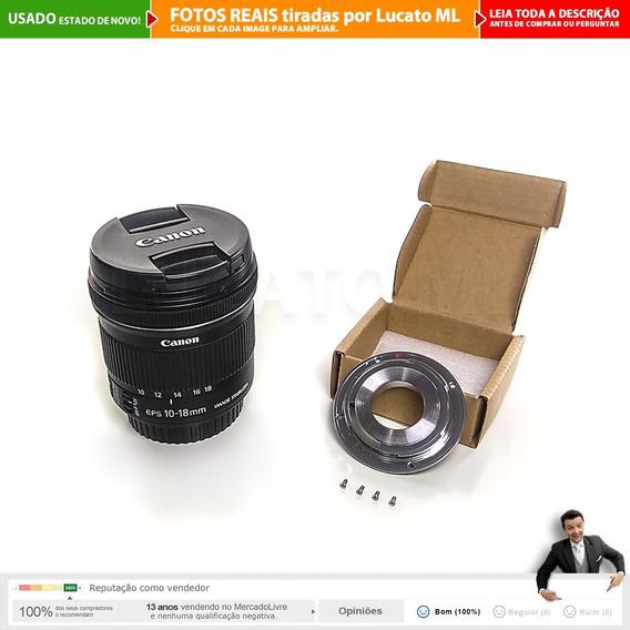 Lente 10-18mm Canon Efs Is Stm + Adaptador Full Frame +cx 2b