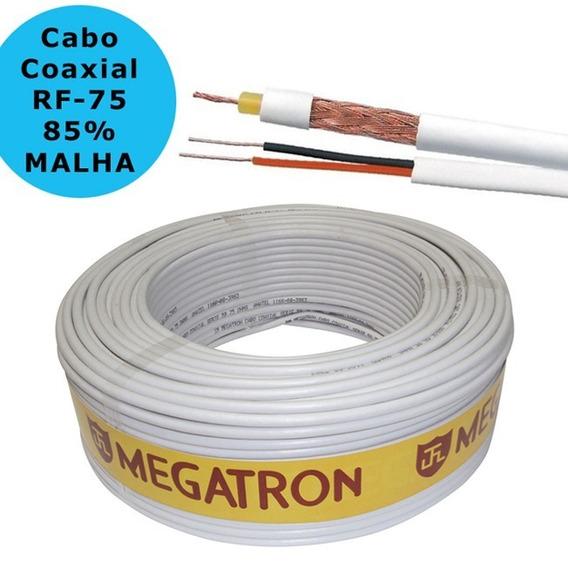 Cabo Para Câmera Coaxial Rf 4mm 85% Malha Bipolarmegatron