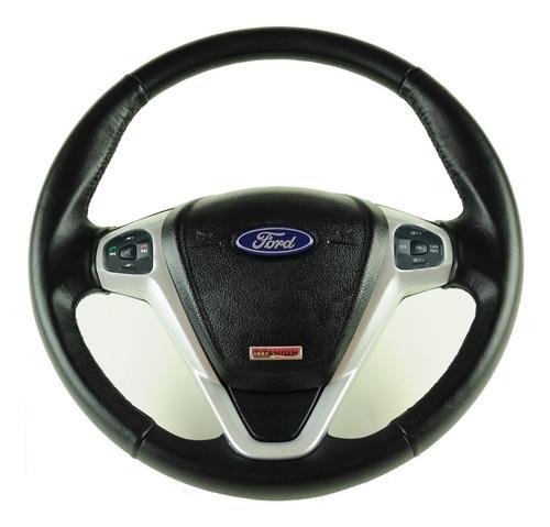 Imagem 1 de 5 de Volante Ford Titanium Comando De Som Led Prata Ka Eco Fiesta
