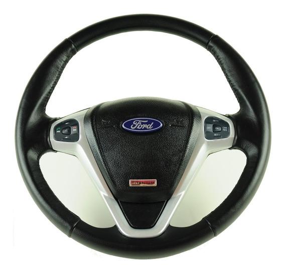 Volante Ford Titanium Comando De Som Led Prata Ka Eco Fiesta