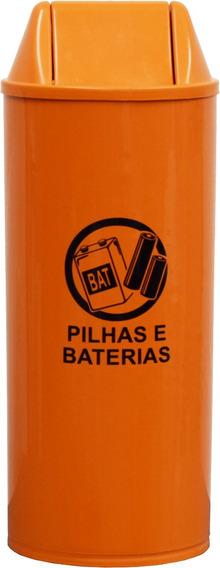 Lixeira Coletor Descarte Pilhas Baterias Eletronicos 22 Lts