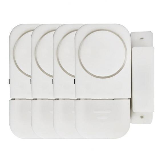 Conjunto 6 Alarme Sonoro Magnético Residencial Portas Janela