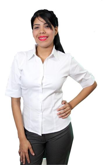 Blusa 3/4 Dama En Gabardina Minimat- Uniformes