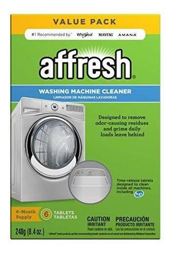 Affresh Washer Machine Cleaner 6tablets 84 Oz