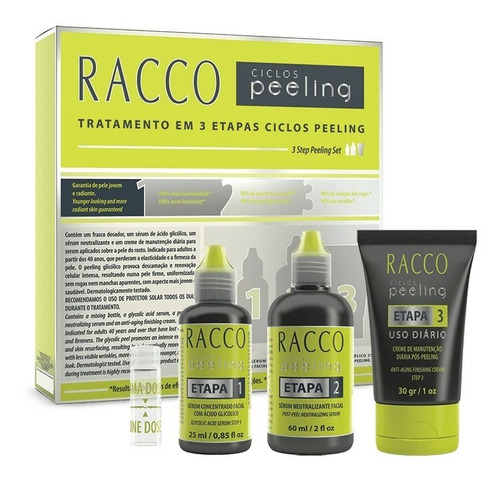 Kit Ciclos Peeling Tratamento 3 Etapas Racco