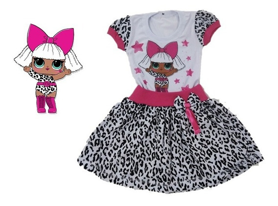 Vestido Infantil Boneca Lol Diva Country - Roupa/fantasia