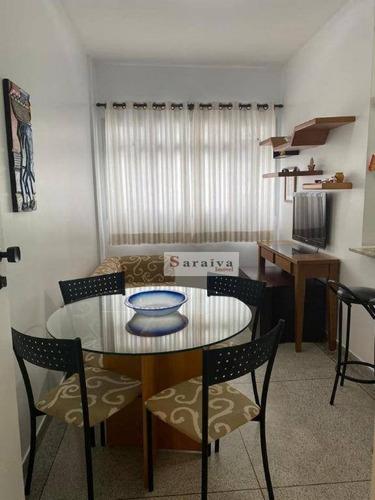 Apartamento Com 1 Dormitório Para Alugar, 62 M² Por R$ 1.600/mês - Boqueirão - Praia Grande/sp - Ap3867