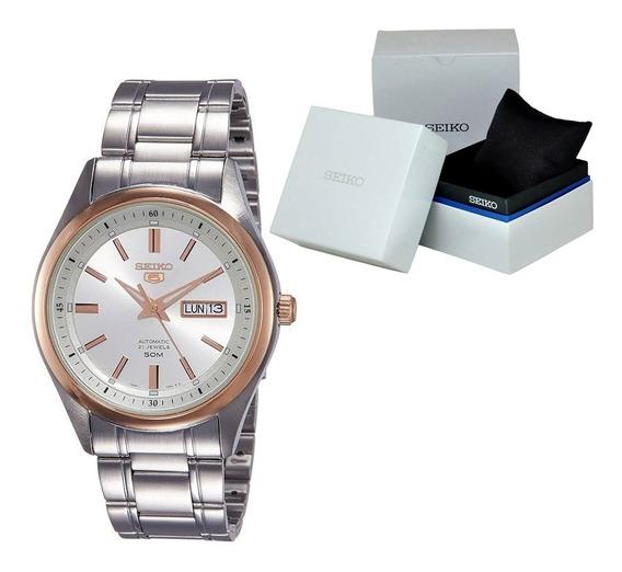 Reloj Hombre Seiko 5 Snkn90k1 Automático Caballero Elegante