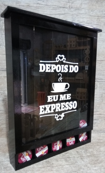 Quadro Cápsulas 3 Corações Dps Café Eu M Expresso Cor Preto