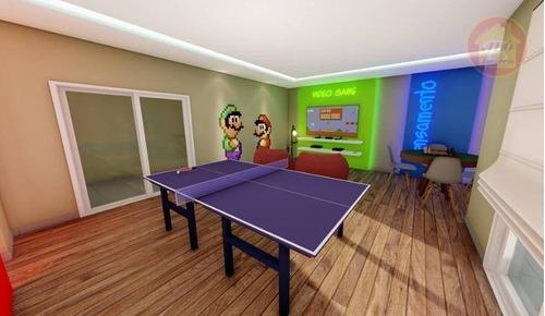 Apartamento À Venda, 47 M² Por R$ 245.000,00 - Caiçara - Praia Grande/sp - Ap5123