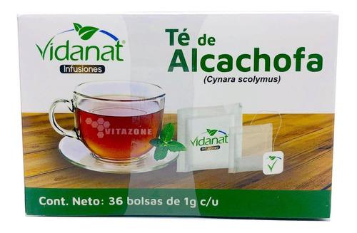 Imagen 1 de 4 de Té De Alcachofa 36 Bolsas Vidanat