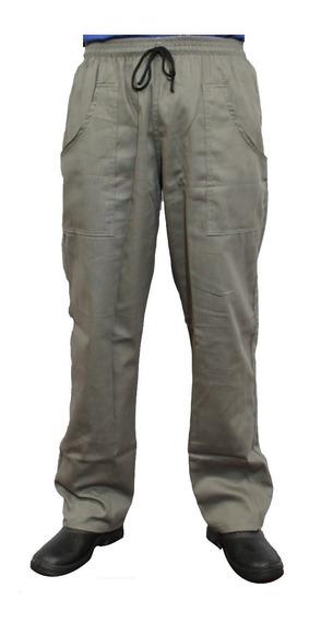 Calça Masculina Em Brim Uniforme Profissional (kit 4 Uni) Xg