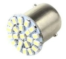 30 Lampadas Automotiva Led 1 Polo Ré Placa 22 Led 5000k