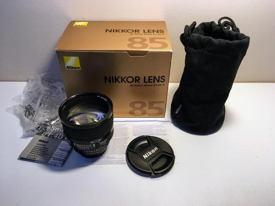 Lente Nikon Nikkor Af-d 85mm 1.4d