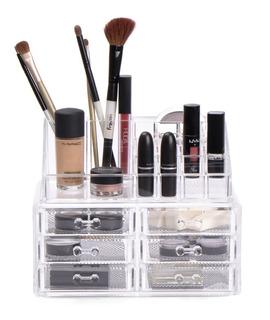 Organizador Maquillaje Make Up Labiales Acrilico Reina Casa