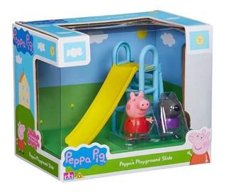 Peppa Pig Juego De Plaza Tobogán Y Hamaca Con Personaje