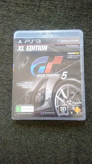 X L Edition Gran Turismo 5 Semi Novo Original Ps3