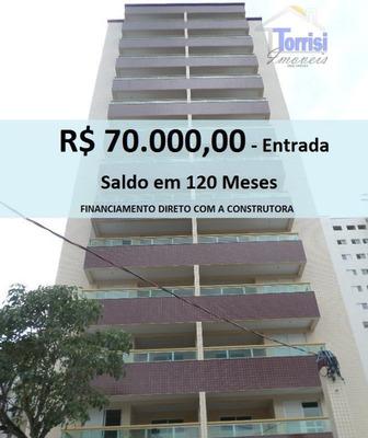Apartamento Em Praia Grande, R$ 70.000,00 De Entrada, 02 Dormitórios Com Sacada Na Vila Tupi. Ref. Ap0141 - Ap0141