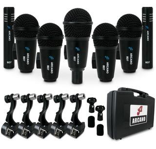 Kit De Microfones Arcano Bd7 7 Mics Para Bateria