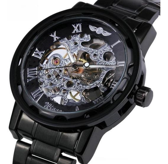 Relógio Masculino Pulso Winner109 Automatico Movim Mecânico