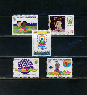Sellos Postales De Chile. 19º Jamboree Mundial, Chile 1999.