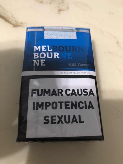 Cigarrillos Melbourne Rubio Suave Pack Por 10