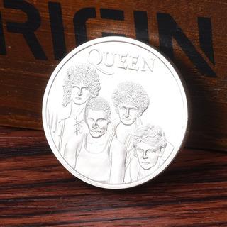 Queen British Rock Band Chapado En Plata Moneda Conmemorativ
