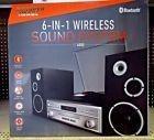 Sharper Image Sbt4005bk Turntable Fm Radio Cd Bluetooth Home