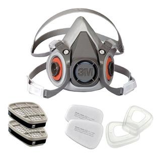 Kit Respirador 6200 3m Cartucho, Filtro E Retentor