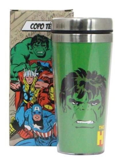 Copo Termico Com Tampa - Hulk Comics - Marvel - 450 Ml