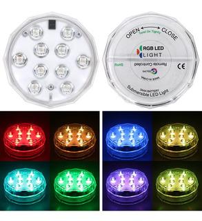 4 Piezas Luces Led Subacuáticas Luces Led Sumergibles Luces