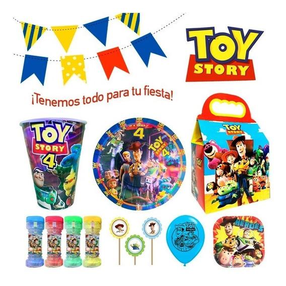 Toy Story Platos Vasos Cajitas Dulceras Globos - Fiesta!