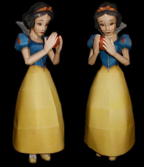 Miniatura Branca De Neve 60cm Modelismo Em Papel Frete Free